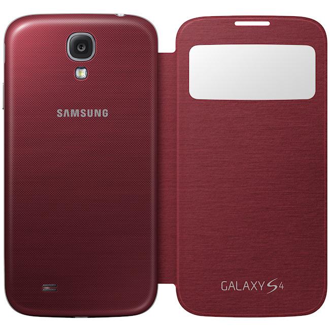 Couverture Flip Rouge Pour Les I9500 Samsung Galaxy 2yYe4